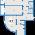 3-комнатная квартира,  ул. Владивостокская, 8