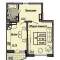 1-комнатная квартира,  УЛ. СЕВАСТОПОЛЬСКАЯ, 18