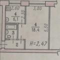 1-комнатная квартира,  УЛ. СЕРОВА, 4А