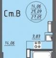 1-комнатная квартира, УЛ. БАЛТИЙСКАЯ, 99