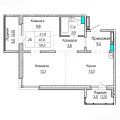 2-комнатная квартира,  ул. Эмилии Алексеевой, 10