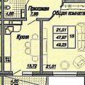 1-комнатная квартира, УЛ. ДАЛЬНЯЯ, 4