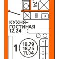 1-комнатная квартира,  УЛ. ЛУГОВАЯ, 35