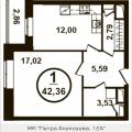 1-комнатная квартира, Петра Алексеева, 12а корп