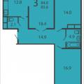 3-комнатная квартира, МОСКВА, ПРОИЗВОДСТВЕННАЯ, 6 КОРП6