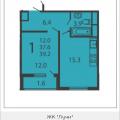 1-комнатная квартира, МОСКВА, ПРОИЗВОДСТВЕННАЯ, 6 КОРП6