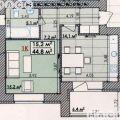 1-комнатная квартира, УЛ. ПОЛЕВАЯ, 105 К3
