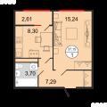 1-комнатная квартира, УЛ. ДОСТОЕВСКОГО, 52А