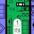 1-комнатная квартира, ВИЛЬСКОГО, 1