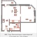 2-комнатная квартира, ПР-КТ. ЛЕНИНСКИЙ