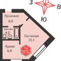 1-комнатная квартира,  УЛ. ДРУЖБЫ, 75