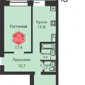 2-комнатная квартира,  УЛ. ДРУЖБЫ, 75