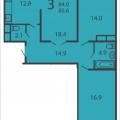 3-комнатная квартира, МОСКВА, ПРОИЗВОДСТВЕННАЯ, 6 КОРП5