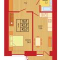 1-комнатная квартира,  УЛ. ЭНЕРГОСТРОИТЕЛЕЙ, 6 К1