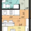 1-комнатная квартира, ШЕБАЛДИНА, 161