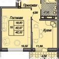 1-комнатная квартира,  УЛ. СТАХАНОВСКАЯ, 1