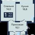 1-комнатная квартира, УЛ. БАРАБИНСКАЯ, 15