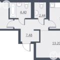 2-комнатная квартира, УЛ. ДУНАЕВСКОГО, 14