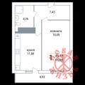 1-комнатная квартира, Волжское ш, 125