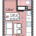 1-комнатная квартира, УЛ. КРЕМЛЕВСКАЯ