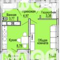 1-комнатная квартира, УЛ. КОММУНАРОВ, 272