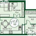 1-комнатная квартира,  УЛ. ВЕЛИЖАНСКАЯ, 72
