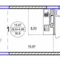 1-комнатная квартира, УФА, УЛ. ФЕРИНА, 6