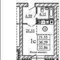 1-комнатная квартира,  УЛ. ЗАПАДНАЯ, 254