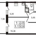 1-комнатная квартира, ПЛ. ЕВРОПЫ