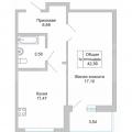 1-комнатная квартира, АКАДЕМИКА САХАРОВА Д. 9