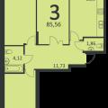 3-комнатная квартира, АКАДЕМИКА САХАРОВА Д. 17