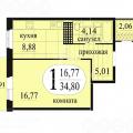 1-комнатная квартира, УЛ. БЕЛОВЕЖСКАЯ, 7 К2