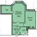 1-комнатная квартира,  УЛ. САЛТЫКОВА-ЩЕДРИНА, 1