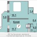 1-комнатная квартира, Ленинский проспект, 16