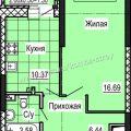 1-комнатная квартира, ИЖЕВСК, УЛ. СОВЕТСКАЯ Д. 41 СТР. 7.2