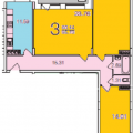 3-комнатная квартира, ВЛАДИМИР, УЛ. СТАВРОВСКАЯ, 1