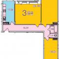 3-комнатная квартира, ул. Ставровская, 1