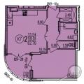 2-комнатная квартира, УЛ. БОРОДИНА, 43