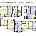 1-комнатная квартира, ЖК РАДУЖНЫЙ, 3