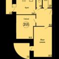 2-комнатная квартира, Рыбновская, 8