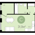 1-комнатная квартира, СУХОДОЛЬСКАЯ Д. 21