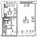 1-комнатная квартира,  ПР-КТ. КОСМИЧЕСКИЙ, 101 К1