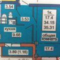 1-комнатная квартира,  ПР-КТ. КОРОЛЕВА, 16 СТР
