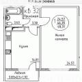 1-комнатная квартира, пгт. Яблоновский, ул. Кобцевой Н.С., 3
