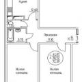 2-комнатная квартира, пгт. Яблоновский, ул. Кобцевой Н.С., 3