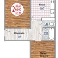 2-комнатная квартира, УЛ. ГАГАРИНА, 192