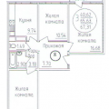 3-комнатная квартира, пгт. Яблоновский, ул. Солнечная, 55/1 к1