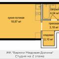 1-комнатная квартира, Октябрьская, 5