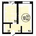 1-комнатная квартира, УЛ. КЛАРЫ ЦЕТКИН, 61