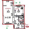 1-комнатная квартира, УЛ. ОМСКАЯ, 114 К3